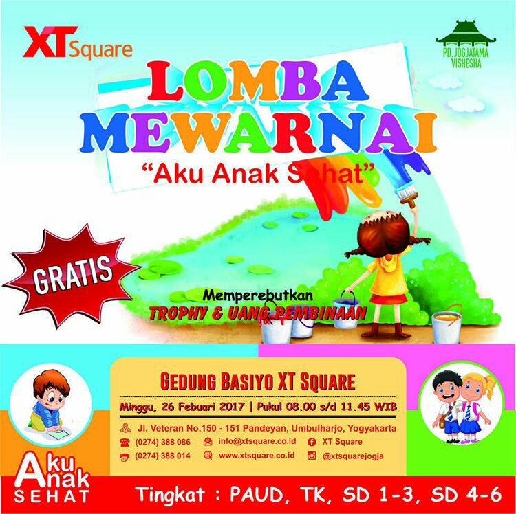 Lomba Mewarnai Xt Square Yogya Gudegnet