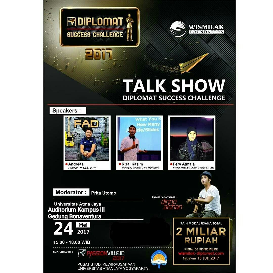 Talkshow Diplomat Success Challenge Yogya Gudegnet Wismilak