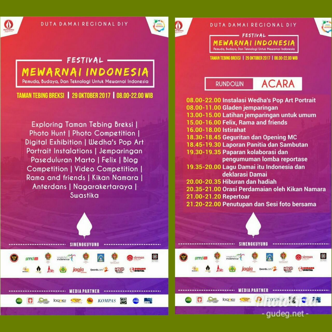 Festival Mewarnai Indonesia Minggu 29 Oktober 2017 Pkl 08 00 22 00 WIB
