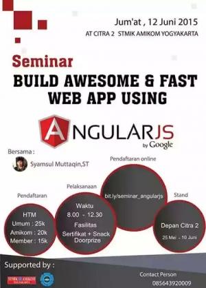 Build Awesome & Fast Web App Using AngularJS | At Amikom Yogyakarta