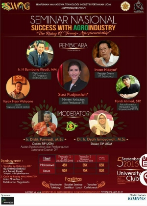 Seminar Nasional: Success With Agroindustry