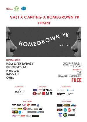 Homegrown YK Vol. 2 Hadir di Rooftop Mall Galeria Yogyakarta