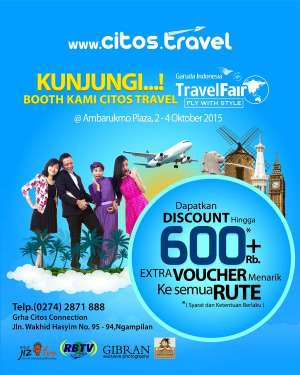 Citos Travel di Garuda Indonesia Travel Fair Ambarrukmo Plaza
