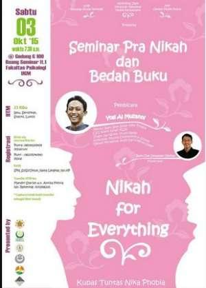 Seminar Pra Nikah dan Bedah Buku di F. Psikologi UGM