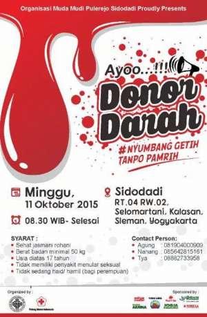 Donor Darah di Sidodadi