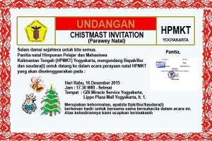 Undangan Parawey Natal Himpunan Pelajar & Mahasiswa Kalimantan Tengah