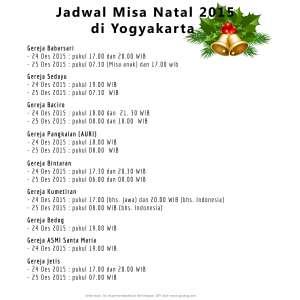 Jadwal Misa Natal Yogyakarta 2015