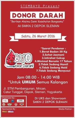 Aksi Donor Darah di SMKN 2 Depok Sleman