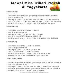 Jadwal Misa Trihari Paskah (2)
