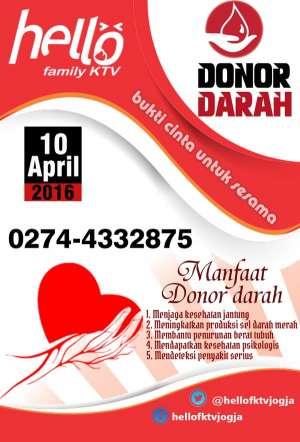 Donor darah di Hello FKTV Jogja I jl seturan raya