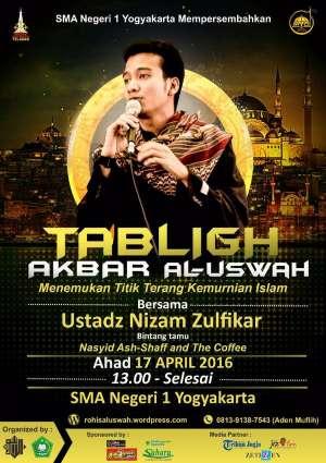 Tablig Akbar with Ustadz Nizam Zulfikar di SMAN 1 Yk, Gratis utk umum