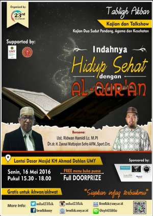 TABLIGH AKBAR, Indahnya Hidup Sehat dgn Al-Qur'an