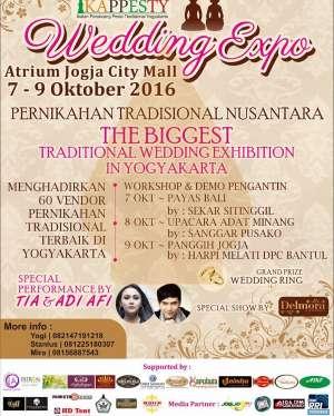 "Wedding Expo ""Pernikahan Tradisional Nusantara""   7 - 9 Oktober 2016   Atrium Jogja City Mall"