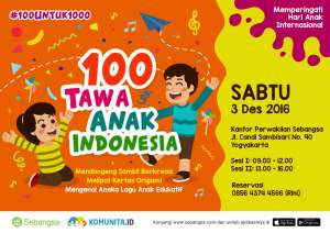 100 Tawa Anak Indonesia