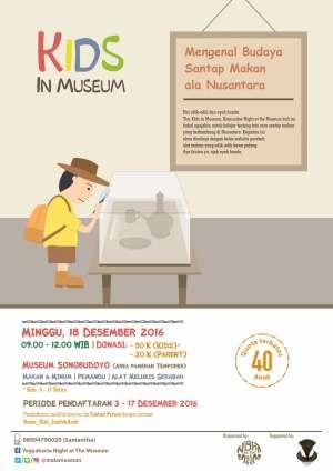 """Kids in Museum """"Mengenal Budaya Santap Makan ala Nusantara"""""""