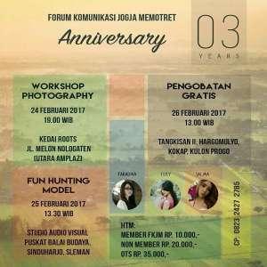 Anniversary 3 tahun Forum Komunikasi Jogja Memotret