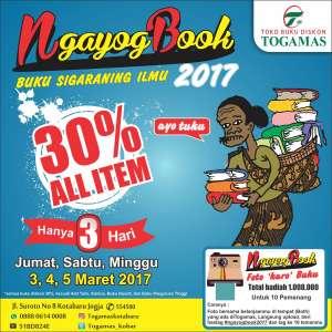 """NgayogBook 2017 """" Buku Sigaraning Ilmu """""""