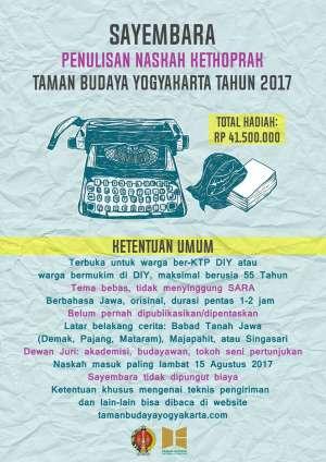 Sayembara Penulisan Naskah Kethoprak TBY 2017