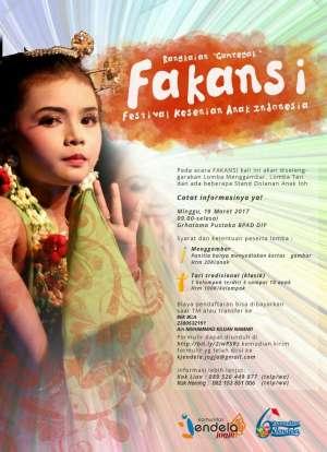 "Festival Kesenian Anak Indonesia "" Fakansi"""