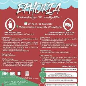 """EPHORIA 2017 """"Knowledge to Enlighten"""""""