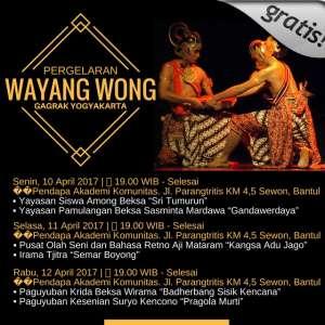 Pagelaran Wayang Wong Gagrak Yogya