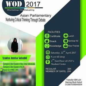 Workshop On Debating 2017