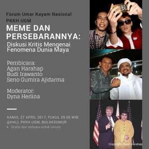 """Forum Umar Kayam Nasional """"Meme dan Persebarannya"""""""