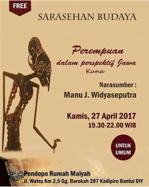 "Sarasehan Budaya ""  Perempuan dalam Perspektif Jawa Kuna"""