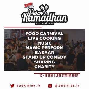 """Pasar Ramadhan """"Meet and Meat"""" di Loop Station Jogja"""