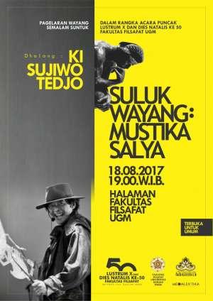 Pagelaran Wayang Mustika Salya dengan Dhalang Ki Sujiwo Tedjo
