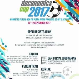 Deconomics Cup 2017 ,Kompetisi Futsal Putra NON Keolahragaan Antar Fakultas se-DIY & JATENG