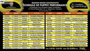 Agenda Wayang Singkat Sonobudoyo Agustus 2017