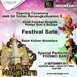 "Bazar Kuliner Nusantara ""Festival Sate"""