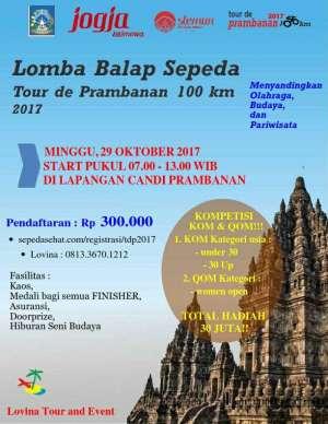 """Lomba Balap Sepeda """"Tour de Prambanan 100 km"""