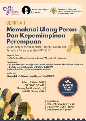 Seminar : Memaknai Ulang Peran Dan Kepemimpinan Perempuan