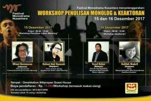 Workshop Penulisan Monolog dan Keaktoran