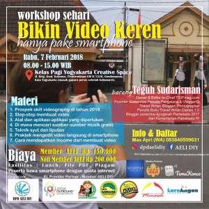 Workshop Videografi Kelas Pagi Yogya