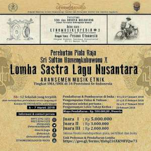 Lomba Sastra Lagu Nusantara Tingkat SMA/SMK se-Indonesia