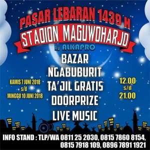 Pasar Lebaran 1439 Stadion Maguwoharjo