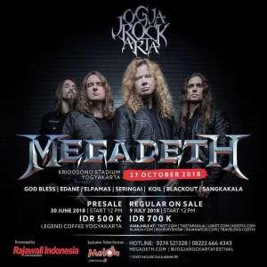 Jogjarockarta 2018 Menghadirkan Megadeth