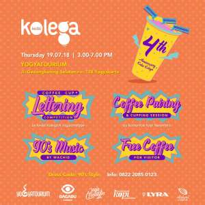 KEDAI KOLEGA 4th ANNIVERSARY : Coffee Cup Lettering Competition