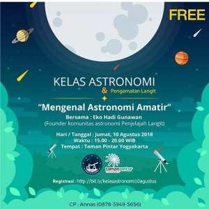 Kelas Astronomi: Mengenal Astronomi Amatir