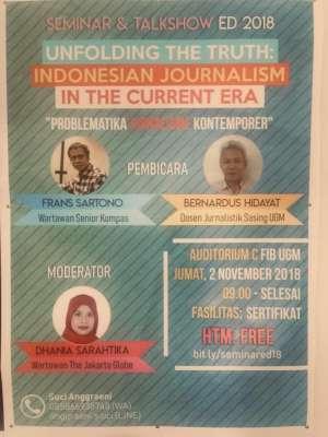 Seminar and Talkshow ED 2018 : Indonesian Journalism