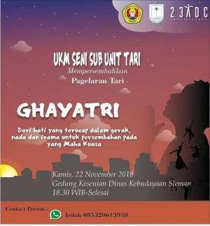 UKM Seni Sub Unit Tari : Ghayatri