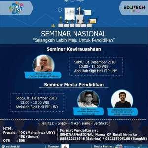 Seminar Nasional Selangkah Lebih Maju untuk Pendidikan