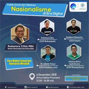 Kuliah umum dan Talkshow Nasionalisme di Era Digital