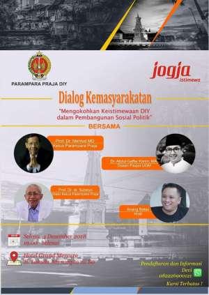 "Dialog Kemasyarakatan ""Mengokohkan Keistimewaan DIY dalam Pembangunan Sosial Politik"""