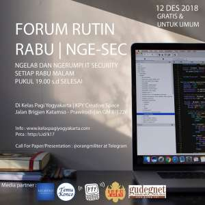 KPY : Forum Rabu Rutin | Nge-Sec