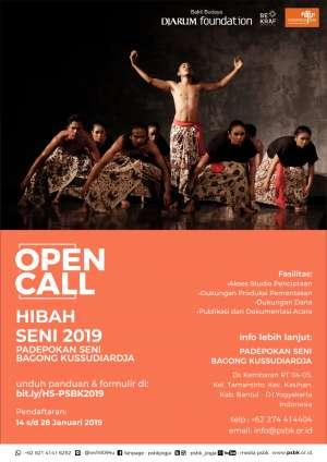 Open Call Hibah Seni 2019 PSBK