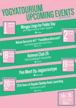 Agenda Event Yogyatourium Mei 2019
